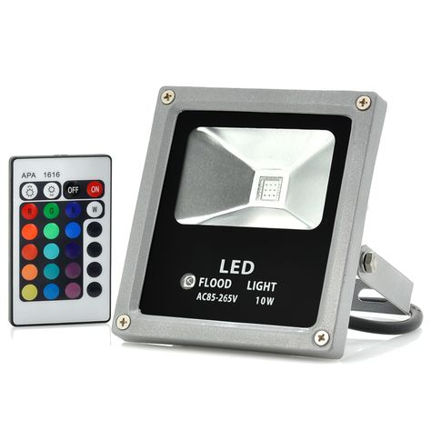 Outdoor Waterproof Led Flood Light 10w Multicolor Remote