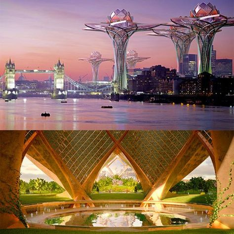Futuristic City in the Sky Provides Tranquil Oasis Away From Urban Life