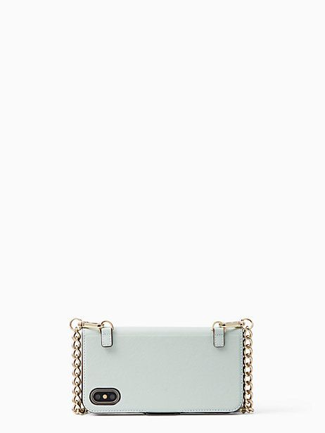 new concept aebc8 8a4f2 Kate Spade folio crossbody iPhone x case, Misty Mint | Products ...