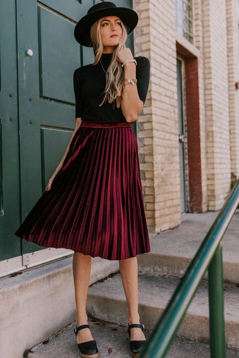 Jovie Velvet Skirt  Jovie Velvet Skirt  Velvet Pleated Skirt | ROOLEE  The post Jovie Velvet Skirt appeared first on New Ideas.