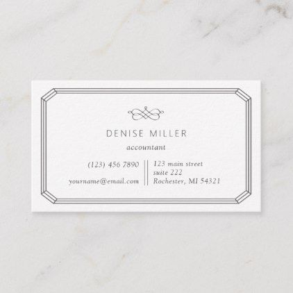 Elegant And Simple Classic Frame Business Card Zazzle Com Classic Frame Realtor Business Cards Modern Business Cards