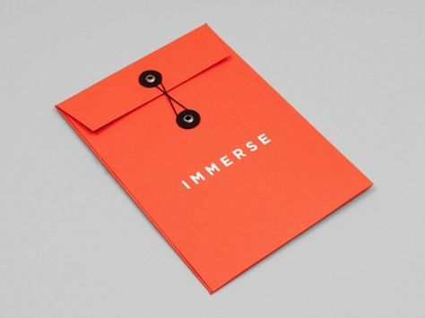 Immerse String and Button Branded #Envelope | Print Design #stationery #branding