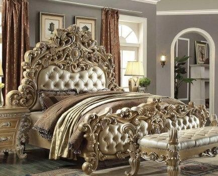 Hd 7012 Homey Design Bedroom Set Victorian European Classic Style Europeanhomedecor Luxurious Bedrooms Luxury Bedroom Sets Bedroom Sets