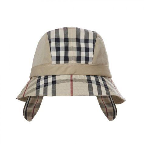 Gosha x Burberry Bucket Hat (Honey) (21.595 RUB) ❤ liked on Polyvore  featuring accessories ead6f4b13f3