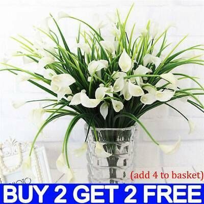 Plastic Outdoor Artificial Flowers Fake False Plants Grass Garden Lily Tulip Go In 2020 Artificial Flowers Grasses Garden Grass