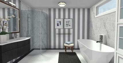Bathroom Wallpaper Border Ideas Accent Walls 60 Ideas For 2019 Bathroom Wallpaper Gray Bathroom Accessories Gray And White Bathroom