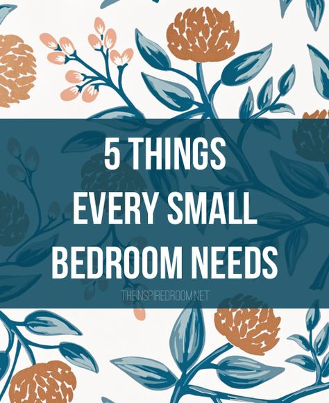 Decorating a small bedroom? We've got a list of things you need to consider and some great furniture and accessory resources, too!