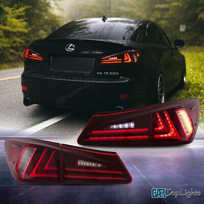 Led Red Tail Lights For Lexus Is250 Is350 Isf 2006 2012 Tail Lamp Full Led Lexus Is250 Lexus Lexus Isf