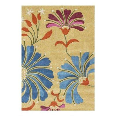 Red Barrel Studio Newburgh Hand Tufted Wool Blue Yellow Area Rug Wayfair Floral Rug Yellow Area Rugs Hand Tufted Rugs