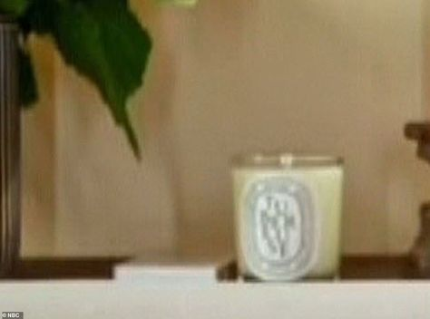 2. Diptyque Tubereuse candle:  The $60 Diptyque Tubereuse candle can be seen on the Meghan's shoulder on the side board. The scent is described online as 'sensual, generous and luscious' and 'full of the heady and intoxicating fragrance derived from the sought-after Mexican white flower'. According to it's online description, it can 'create an elegant ambience in the home for any occasion.' The scented candle may be another piece selected by the Duchess, who has long been a fan of the brand. She