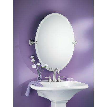 Moen Dn2692 Tilting Bathroom Mirror Oval Mirror Brushed Nickel