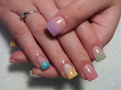 Pastel Fade by nailsbykaesi - Nail Art Gallery nailartgallery.nailsmag.com by Nails Magazine www.nailsmag.com #nailart #Acrylic #nails #boise #nampa #CALDWELL #meridian #Kuna #IDAHO #EZFlow #nailtech #Acrylicnails #nailartist #OMBRE