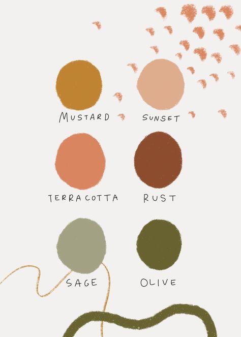 Colour Pallete, Color Combos, Orange Color Palettes, Color Trends, Green Color Schemes, Earth Colour Palette, Rustic Color Palettes, Interior Color Schemes, Paint Color Schemes
