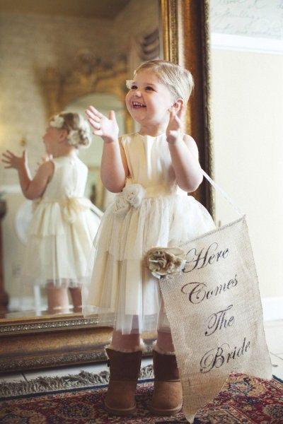 Here comes the bride banner as seen in Style by victorianstation, $49.00