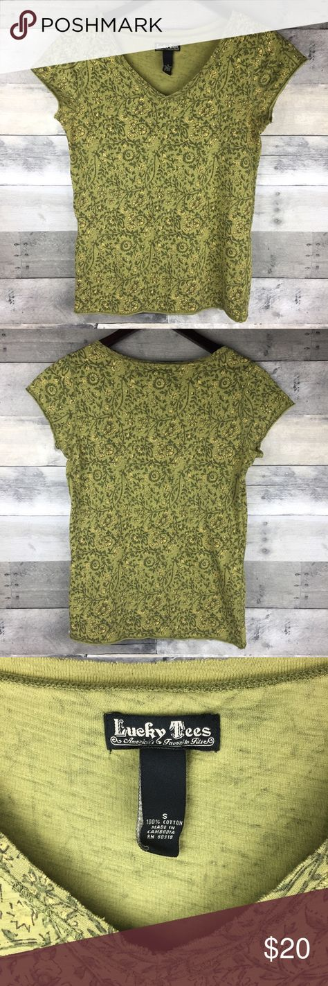 """Womens Lucky Brand Lucky Tees V Neck Green Raw Hem Womens Size S Lucky Brand Lucky Tees V Neck Green Raw Hem Vines Print Boho Hippy  Retail $39 Condition: Excellent Used Condition Tag Size: S Measurements: Armpit to armpit: 15.5"""" Length: 22.5""""  Please follow me for more great items and sweet deals! Thank you for shopping! Lucky Brand Tops Tees - Short Sleeve"""