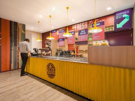 Check out the mural art, handpainted typography and other interior elements we designed for Fresh Burritos. A delicious, fresh franchise in France.