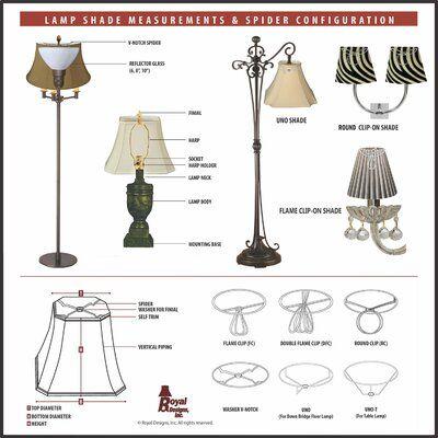 Royal Designs Heavy Duty Harp Lamp Finial Size 7 H X 3 5 W X 0 38 D Rectangular Lamp Shades Royal Design Outdoor Light Fixtures