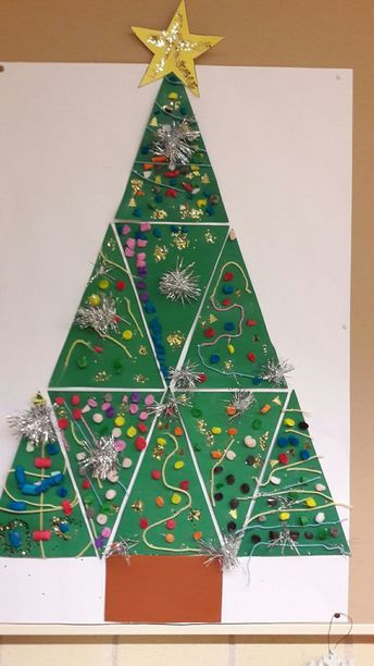 Group Christmas Tree Project Christmas Tree Crafts Christmas Kindergarten Christmas Art