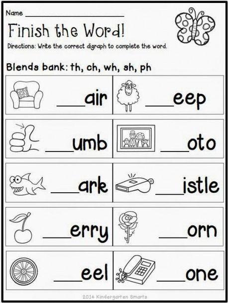 Spring Themed Worksheets In 2020 Blends Worksheets Kindergarten Reading Worksheets Free Kindergarten Worksheets