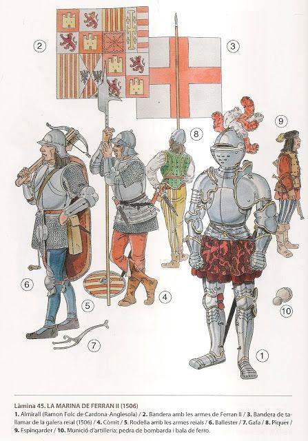 45 La Marina De Ferran Ii 1506 Ilustracion Militar Ilustracion De Guerreros Historia Medieval