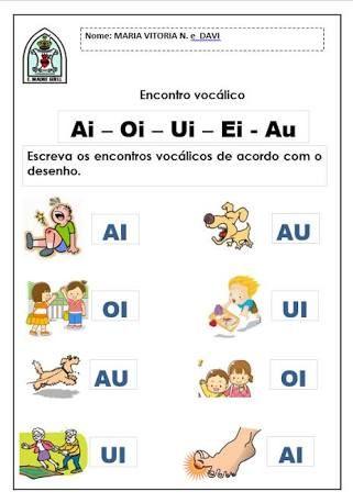 Resultado De Imagem Para Atividades Encontro Vocalico Ai Educacao