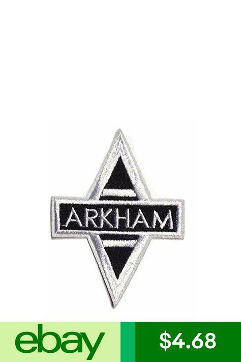 Batman Arkham Asylum Cutout Logo Crest Embroidered Patch 3 12 X 3