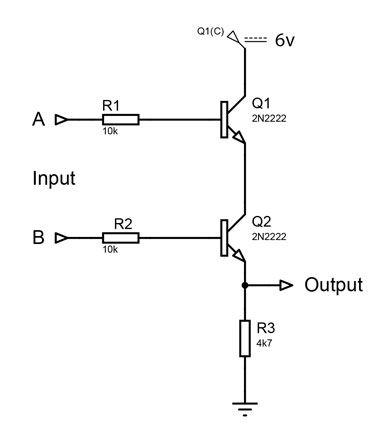 Two Input Transistor And Gate Logic Gate Digital