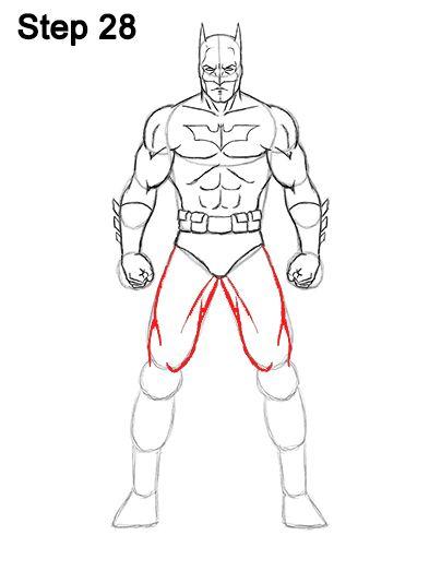 Batman Full Body Drawing 28 Comic Zeichnen Zeichnen Comic
