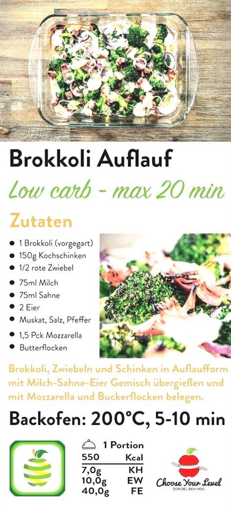 Rezept Fur Low Carb Brokkoli Auflauf Abnehmen Ernahrung Schnell Extrem Gesunde Diat Nachher Tipps Schne Salad Recipes Healthy Lunch Low Carb Casseroles