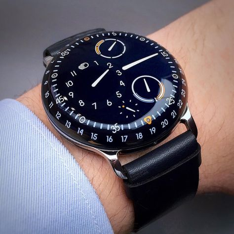 """Time and Watches on Instagram: """"With its patented display without """"real"""" hands,  the Ressence Type 3 Night Blue proves that it is not true that everything has been already…"""""""