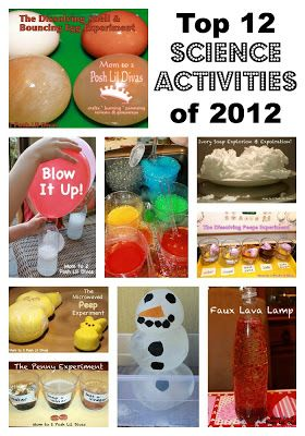 Top 12 Science Explorations of 2012 for Kids...fun!