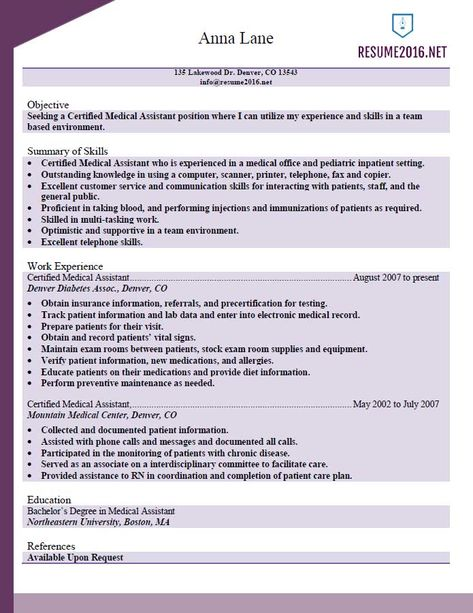 Entry Level Medical Assistant Resume with No Experience Resume - best of canada post letter address format