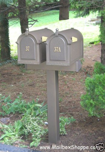 Details About Double Whitehall Mailbox 2 Post Mail Box Door Signs Box Details Door Double Mail Mail Mailbox Landscaping Mailbox Double Mailbox Post