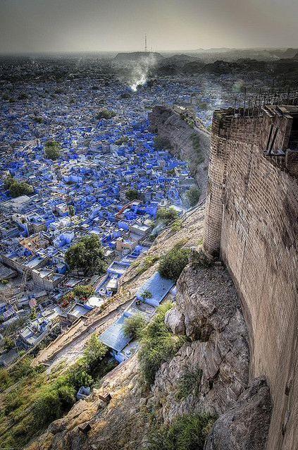 The Blue City seen from Mehrangarh Fort - Jodhpur, Rajasthan, #India #Travel #trip #vacation #destinations