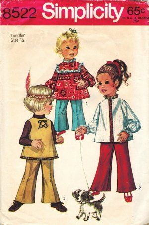 Waist 22 Child/'s Size 7 1960s Pants Girls Mod Circus Stripes Wide Leg Trousers Yellow Red Navy Blue 60s Children/'s Bell Bottoms
