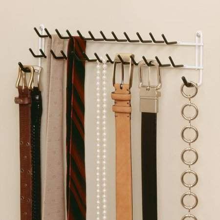 2 Days Shipping Wall Mount Organizer Shelf White ClosetMaid Tie and Belt Rack