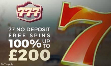 77 No Deposit Casino Free Spins At 777 Casino Casino Casino