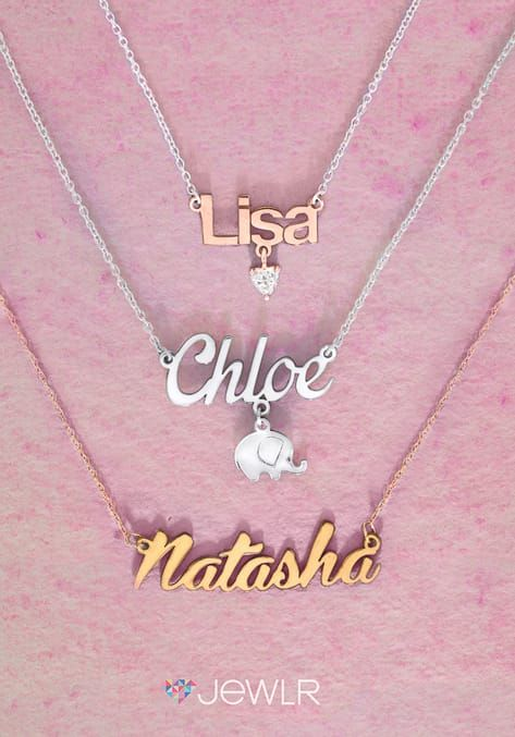 Personalized Name Necklace Jewelry Name Necklace Dainty Diamond Necklace