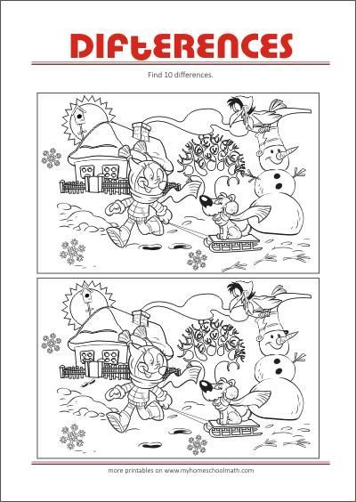 Spot The Difference Worksheets Kids In 2020 Printables Free Kids