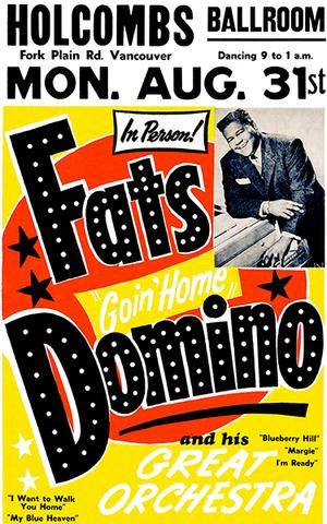 Fats Domino Rock n Roll Concert Print Framed /& Memo Board Available