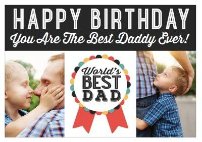 Personalised Cards For Birthday Moonpig Birthday World Worlds Best Dad Happy Fathers Day