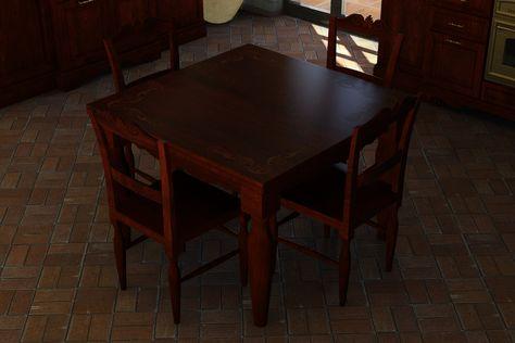 Tavolo intarsiato e sedie intagliate coordinate.   #artigianato #legno #interiordesign #intaglio #intarsio #cucina #madeinitaly #stileclassico #arredamento #casa #italianstyle #sicilia #countrychic #stilerustico #handicrafts #wood #kitchen