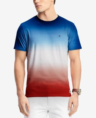 Tommy Hilfiger Men's Ombre Dip Dyed T Shirt, Created for