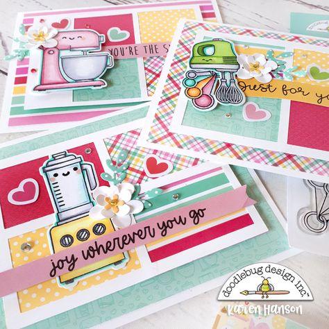 Doodlebug Design Inc Blog: MADE WITH LOVE STAMPED CARDS | with Karen