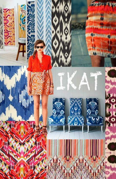 Ikat Muster - Ethno Flair in der Mode und im Interior
