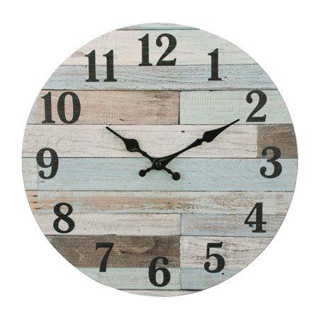 Kitchen Wall Clock Blue