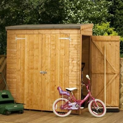 6ft X 2 6 Pent Roof Log Tool Storage Shed Outside Garden Store Double Door 6x3 2 Shiplap Sheds Garden Storage Shed Bicycle Storage Shed