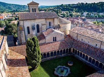 Abdij Van Saint Hilaire Zonnig Zuid Frankrijk Chateaux Cathares Cathares Chateau