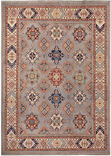Grey Geometric Super Kazak Oriental Traditional Area Rug Wool Handmade Dining Room Carpet 9x12 8 11 X 11 In 2020 Wool Area Rugs Traditional Area Rugs Room Carpet