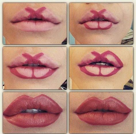 Plump lips without injection. 8 make-up technician, . 8 техник макияжа, к… Plump lips without injection. 8 make-up techniques that every woman can repeat Lip Contouring, Contour Makeup, Skin Makeup, Makeup Brushes, Eyebrow Makeup Tips, Eye Makeup Steps, Makeup Remover, Makeup Guide, Makeup Hacks